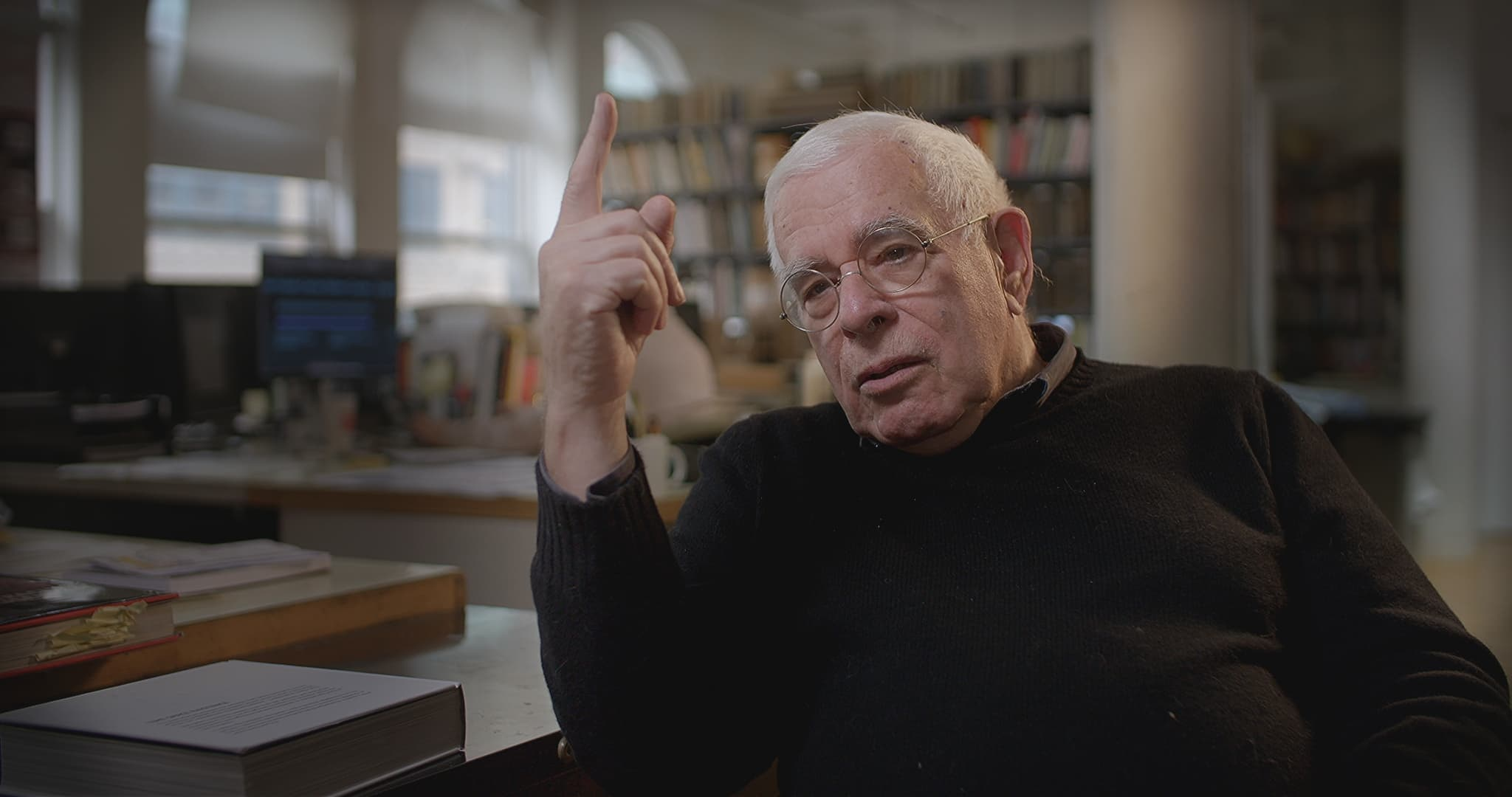 Star-Architekt Peter Eisenman (New York) im Gespräch. © NOW Collective.